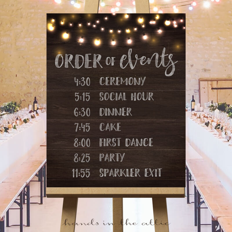 Wedding Reception Agendas