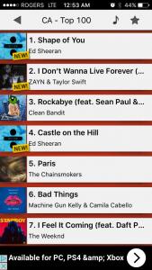 Top 100 Hits App